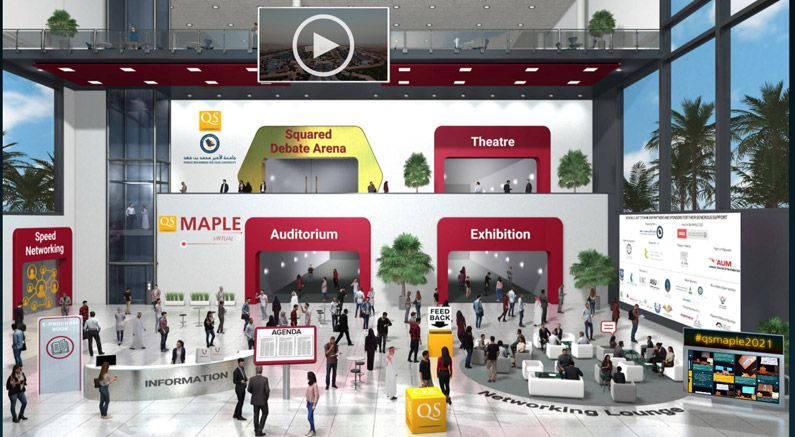 Virtual conference and exhibition QS MAPLE 2021